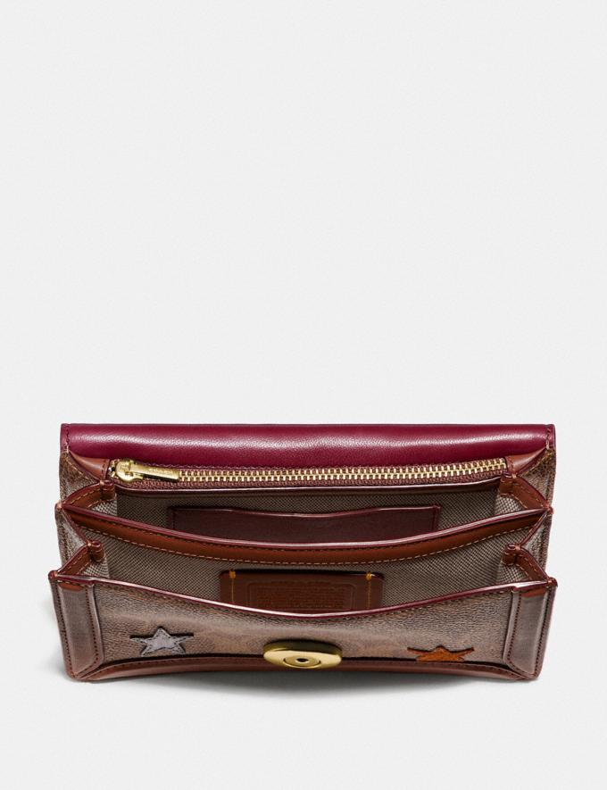 Coach Riley Convertible Belt Bag in Signature Canvas With Star Applique and Snakeskin Detail Tan/1941 Saddle/Brass Gifts For Her Alternate View 2