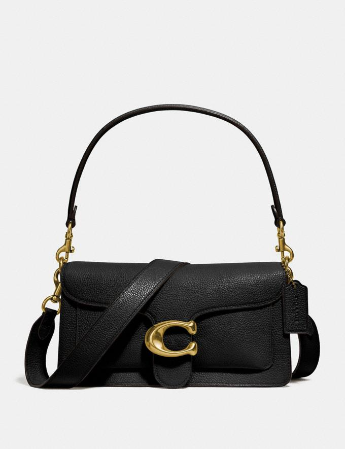 Coach Tabby Shoulder Bag 26 Black/Brass Women Bags Shoulder Bags