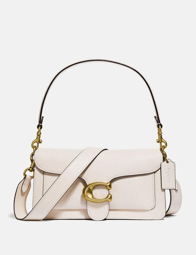 Coach Tabby Shoulder Bag 26 Chalk/Brass Women Bags Shoulder Bags