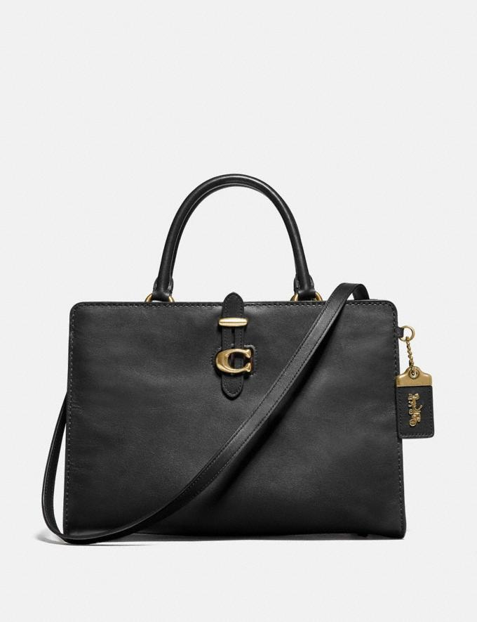 Coach Serra Satchel in Colorblock Brass/Black Multi Women Bags Satchels