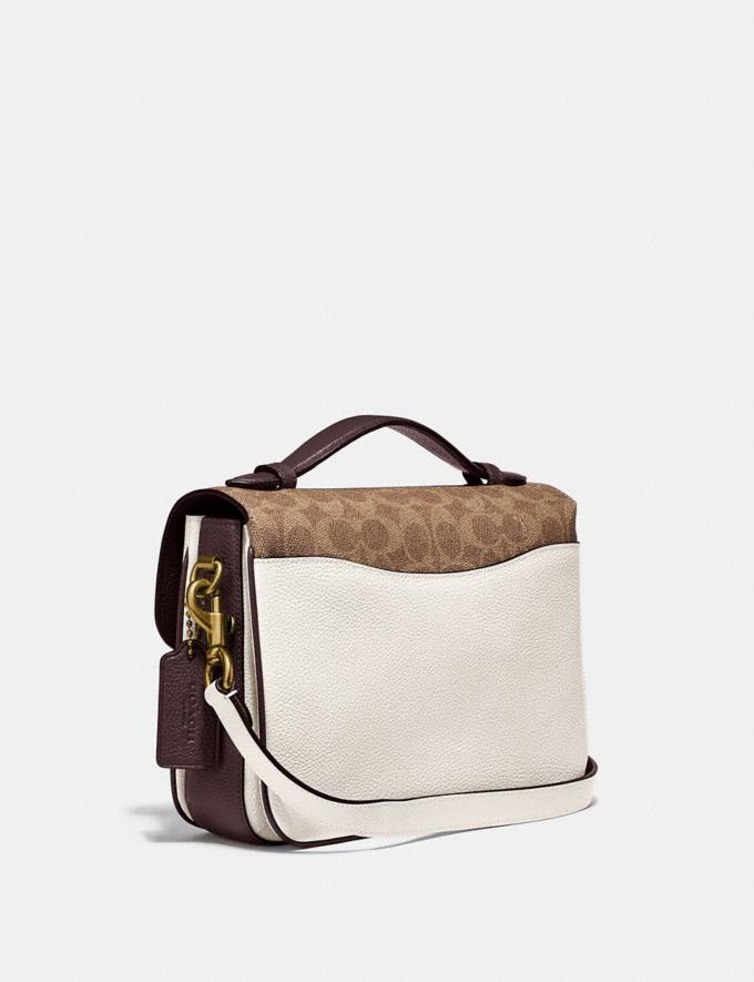 Coach Cassie Crossbody With Signature Canvas Blocking Brass/Tan Chalk Women Bags Crossbody Bags Alternate View 1
