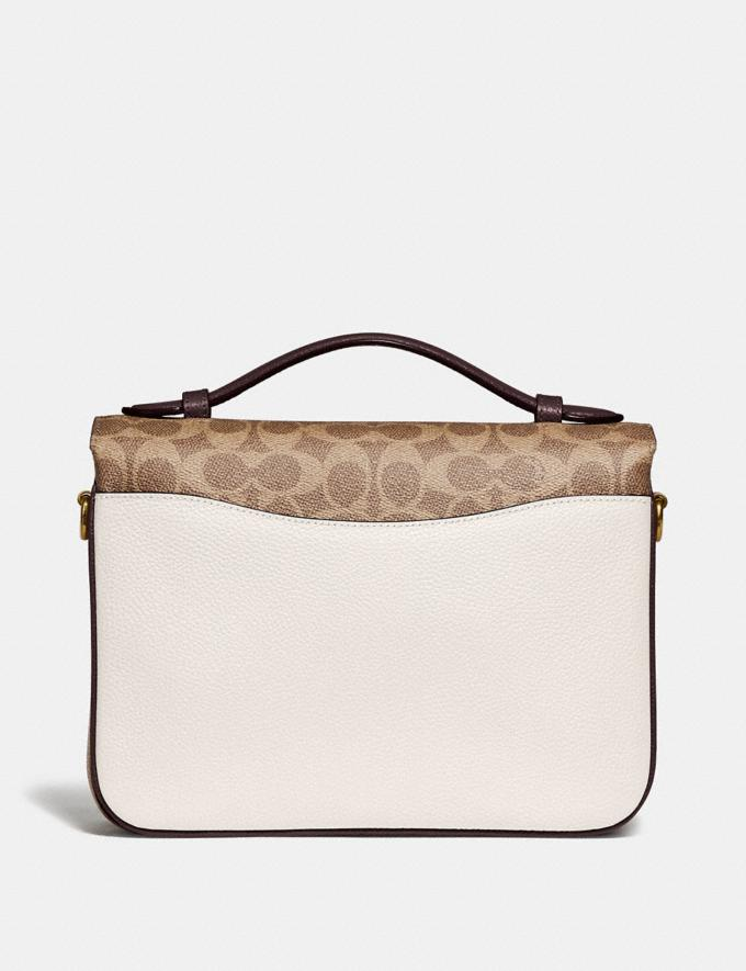 Coach Cassie Crossbody With Signature Canvas Blocking Brass/Tan Chalk Cyber Monday Online Only Cyber Monday Sale Bags Alternate View 2