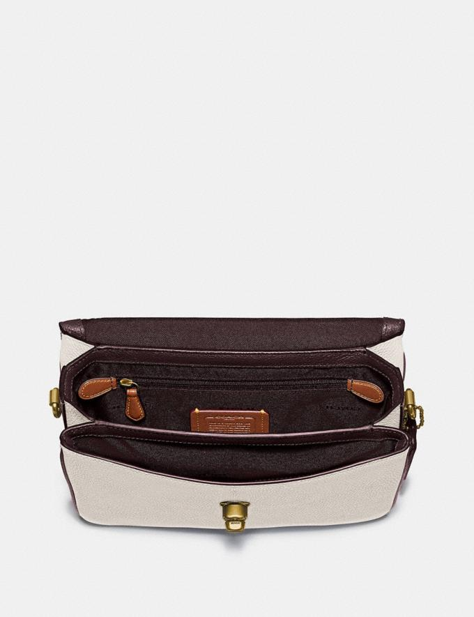 Coach Cassie Crossbody With Signature Canvas Blocking Brass/Tan Chalk Cyber Monday Online Only Cyber Monday Sale Bags Alternate View 3