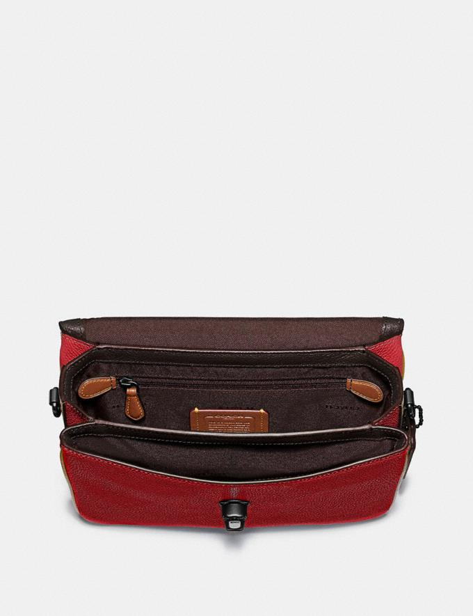 Coach Cassie Crossbody With Signature Canvas Blocking Pewter/Tan Red Apple Women Bags Crossbody Bags Alternate View 3
