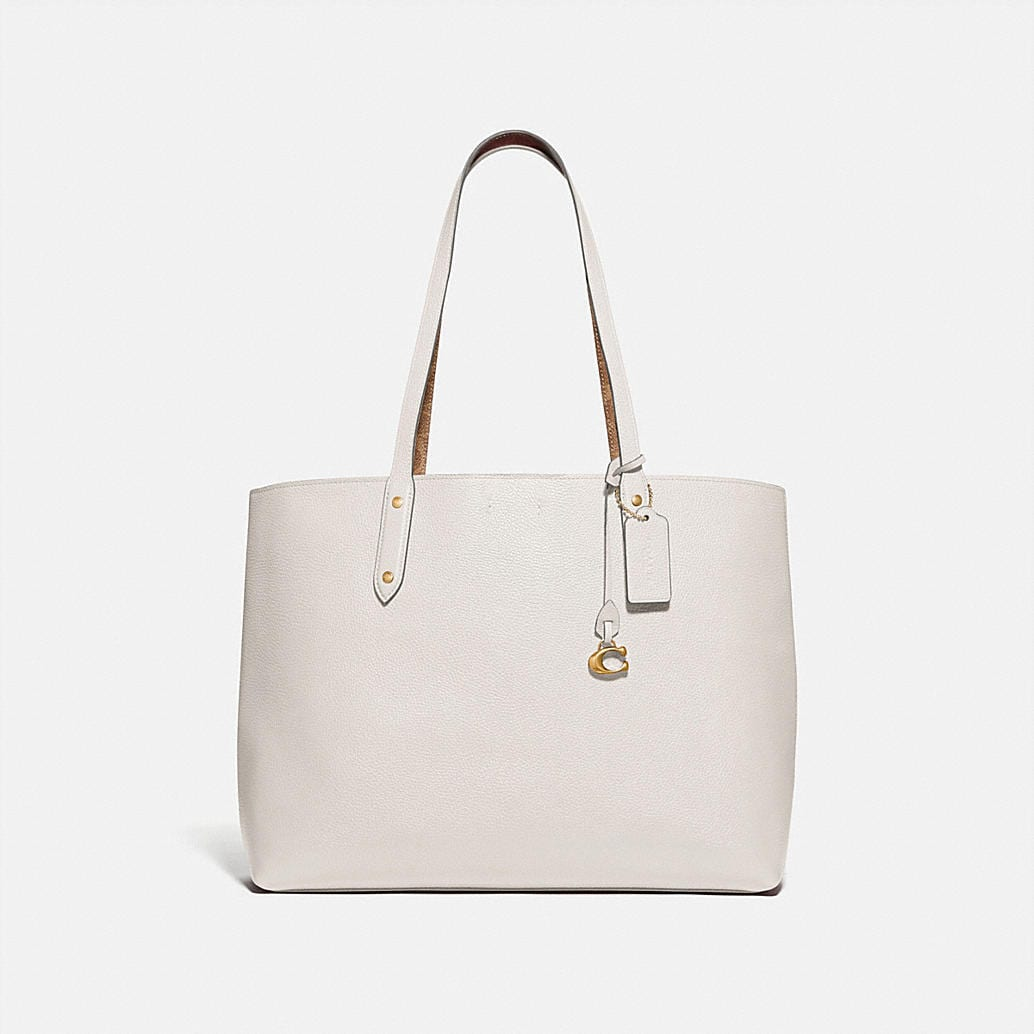 Central Tote With Signature Canvas Blocking by Coach
