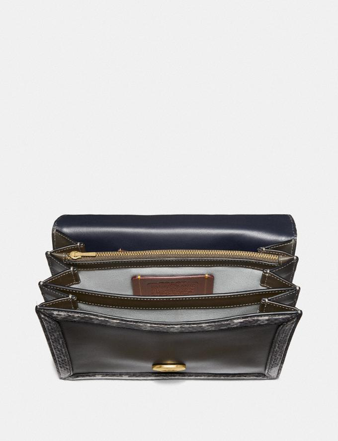 Coach Riley Top Handle 22 Mit Schlangenleder Moos/Messing Damen Taschen Umhängetaschen Alternative Ansicht 2