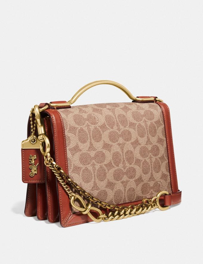 Coach Riley Top Handle 22 in Signature Canvas With Rexy by Guang Yu Tan/Rust/Brass New Women's New Arrivals Collection Alternate View 1