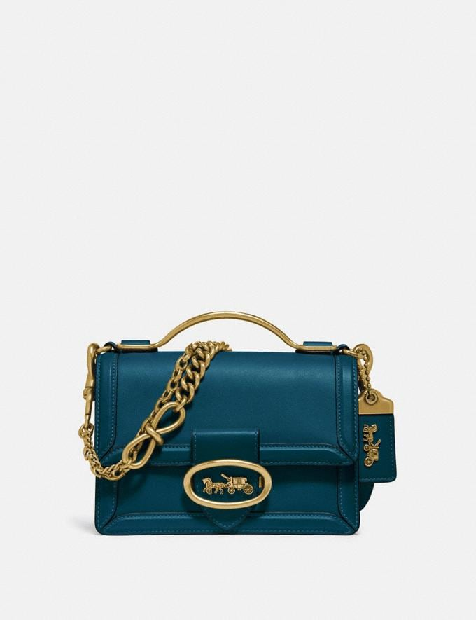 Coach Riley Top Handle 18 Peacock/Brass PRIVATE SALE Women's Sale Bags