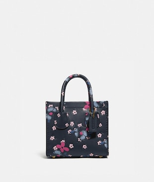 CASHIN CARRY TOTE 14 WITH BLOCKED FLORAL PRINT