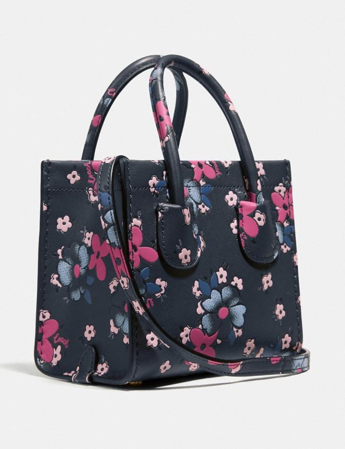 Coach Cashin Carry Tote 14 With Blocked Floral Print B4/Multi Women Bags Totes Alternate View 1