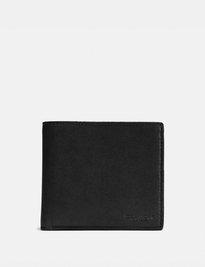 Coach Coin Wallet Black SALE Men's Sale Wallets