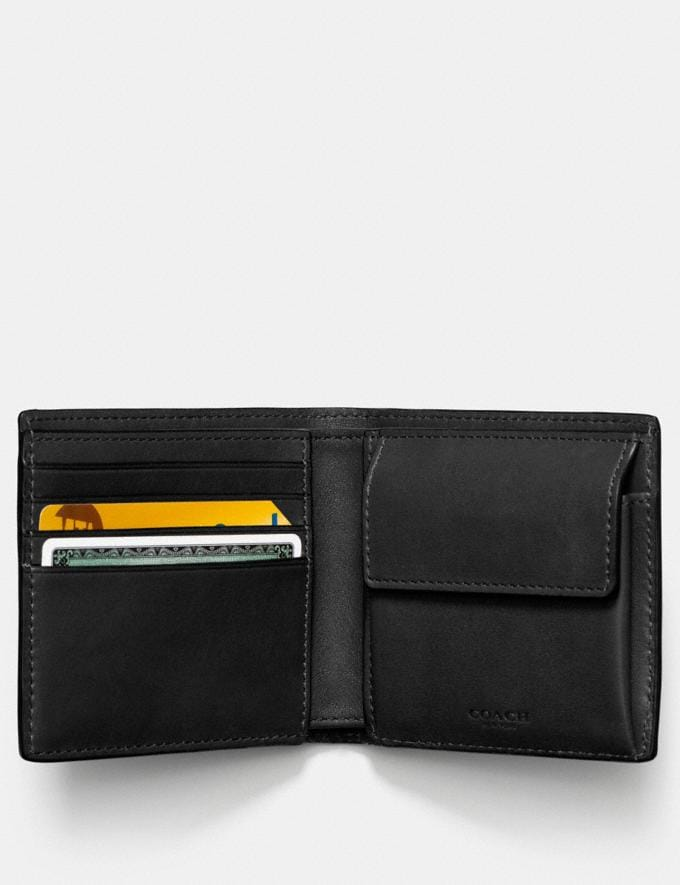 Coach Coin Wallet Black SALE Men's Sale Wallets Alternate View 1