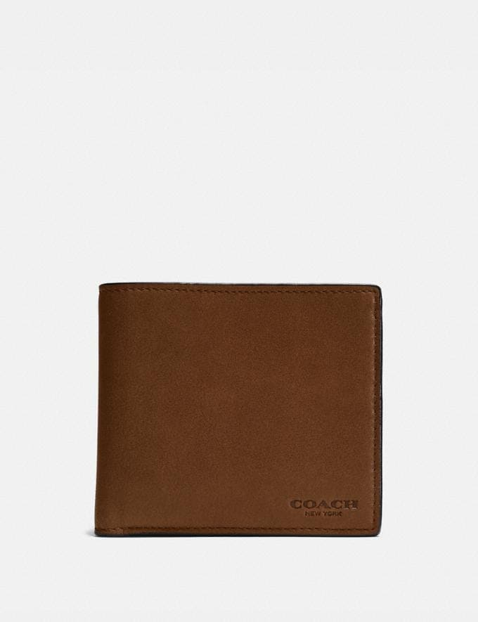 Coach Coin Wallet Dark Saddle Men Wallets