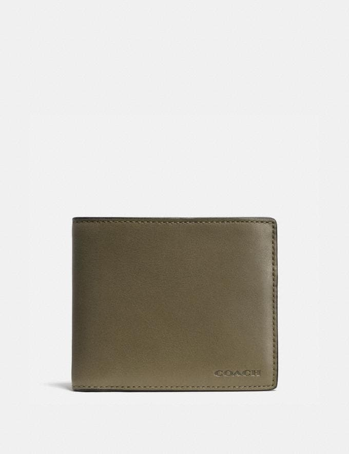 Coach Compact Id Wallet Surplus Gift For Him Bestsellers