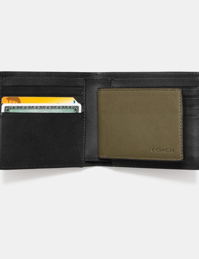 Coach Compact Id Wallet Surplus Gift For Him Bestsellers Alternate View 1