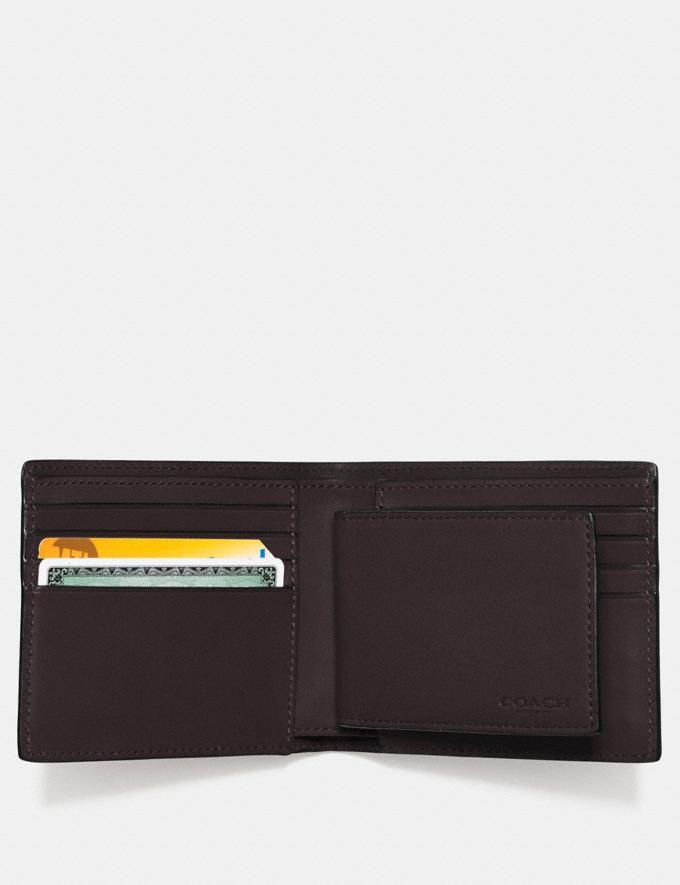 Coach Compact Id Wallet Chestnut Men Wallets Billfolds Alternate View 2