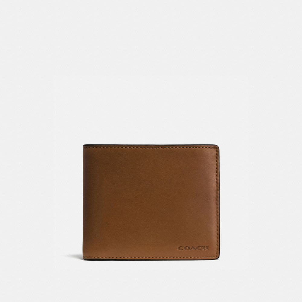 COMPACT ID WALLET IN LEATHER