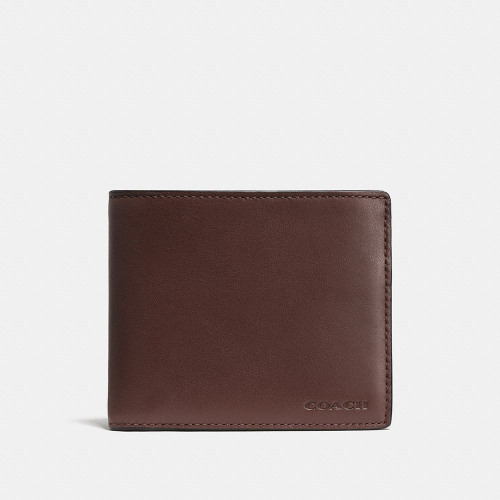 Wallet Saddle Leather Compact id Wallet in Leather
