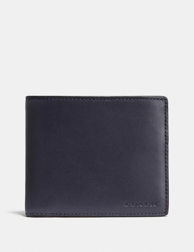 Coach 3-In-1 Wallet Midnight Men Wallets Billfolds