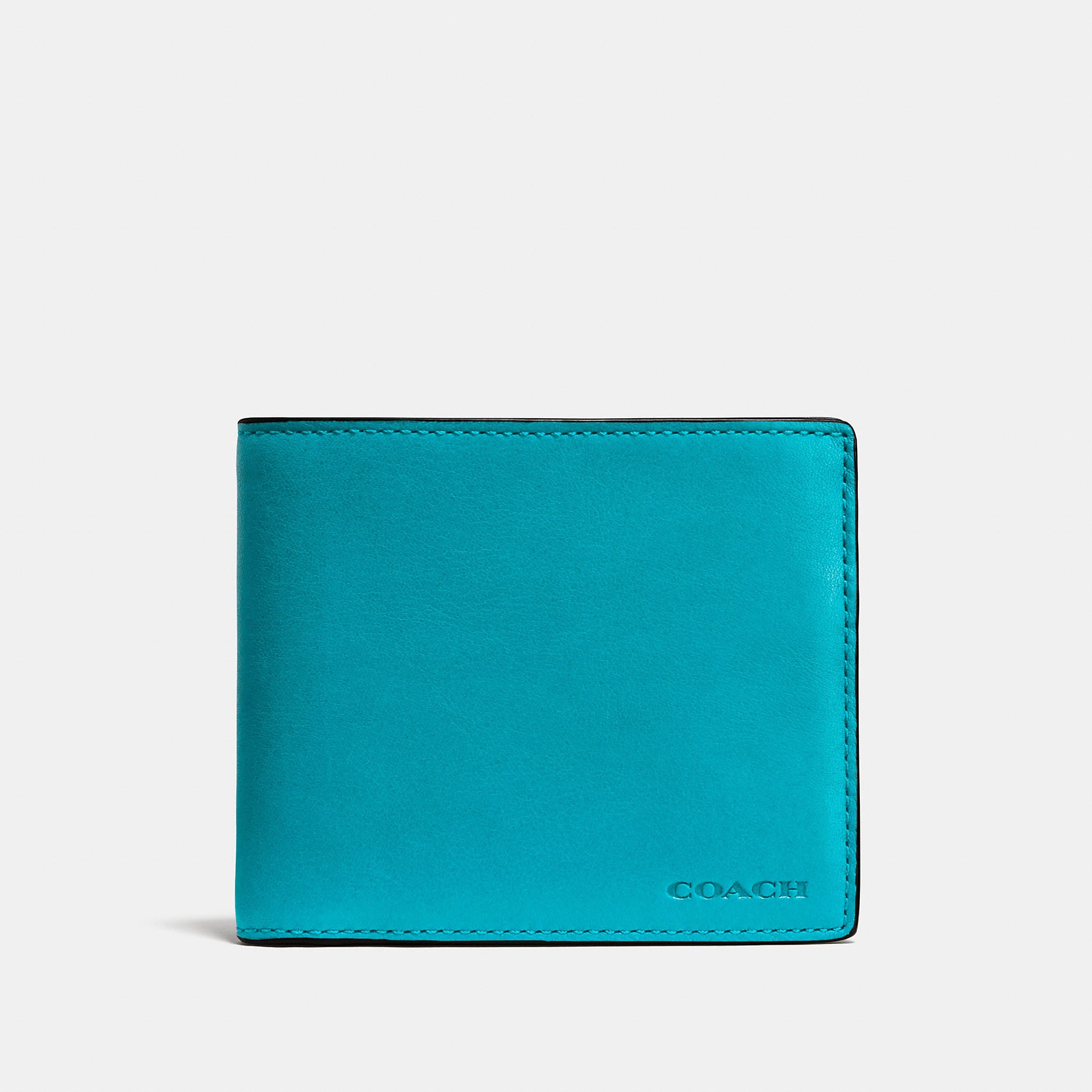 Coach Compact Id Wallet In Leather