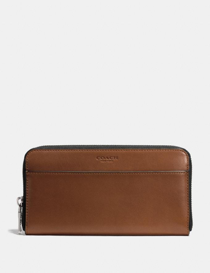 Coach Accordion Wallet in Sport Calf Leather Dark Saddle Cadeau Pour lui Bestsellers