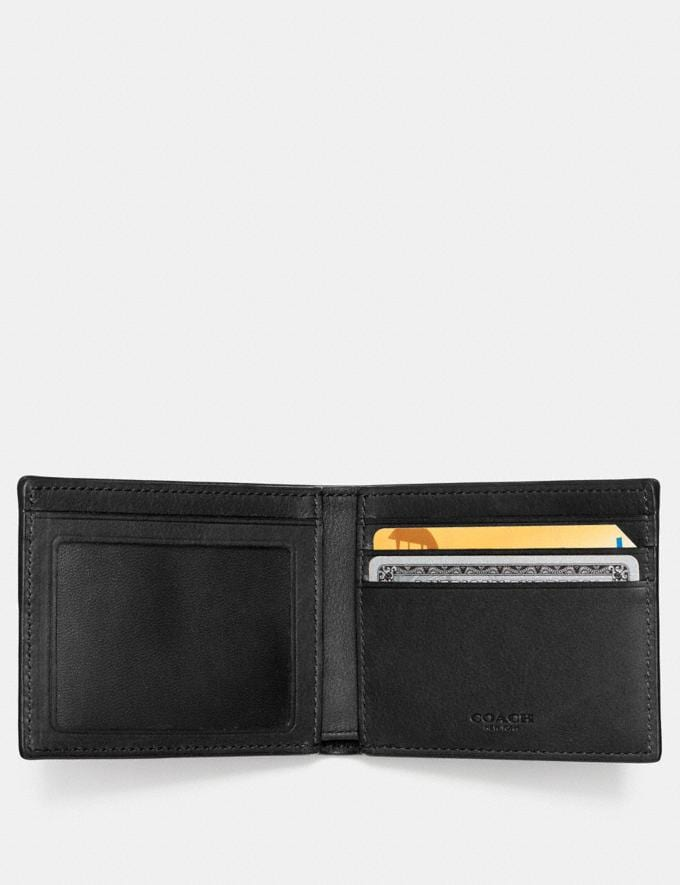 Coach Slim Billfold Id Wallet Black Men Wallets Alternate View 1