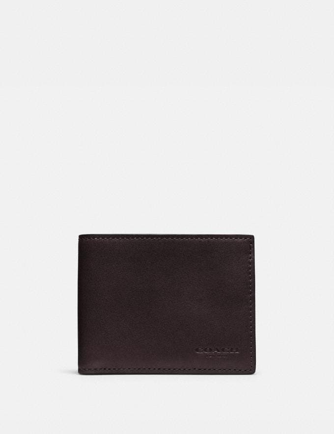 Coach Slim Billfold Id Wallet Chestnut Gifts For Him Bestsellers