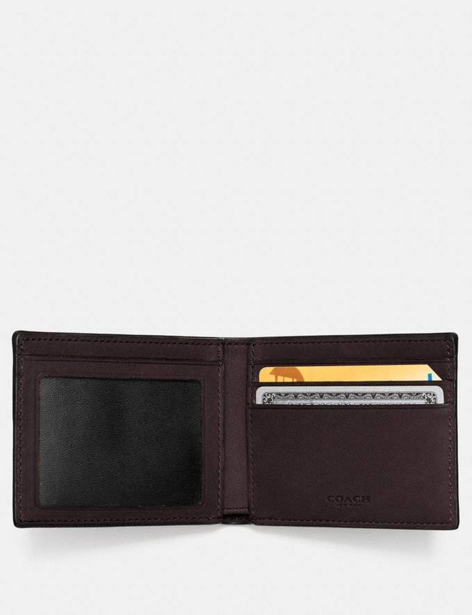 Coach Slim Billfold Id Wallet Chestnut Gifts For Him Bestsellers Alternate View 1