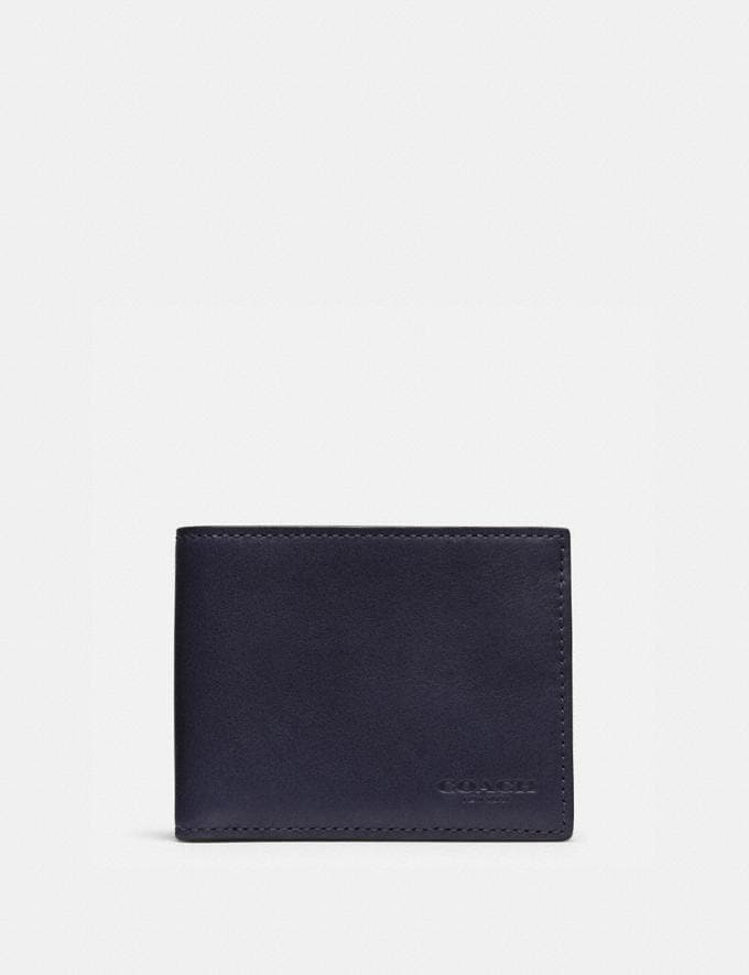 Coach Slim Billfold Id Wallet Midnight Gifts For Him Bestsellers