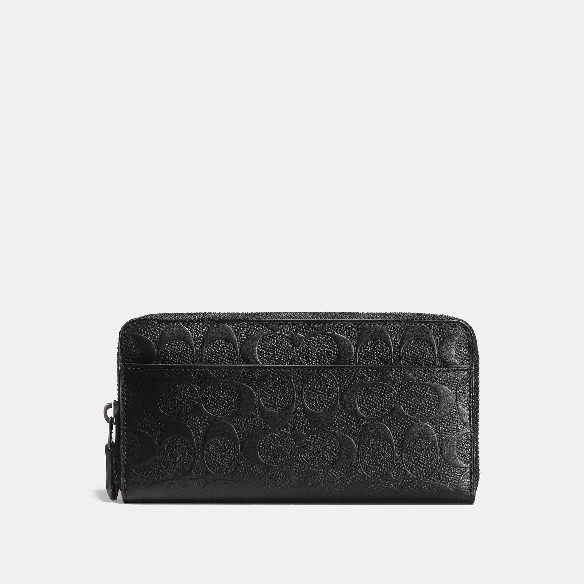 Coach Accordion Wallet In Signature Crossgrain Leather