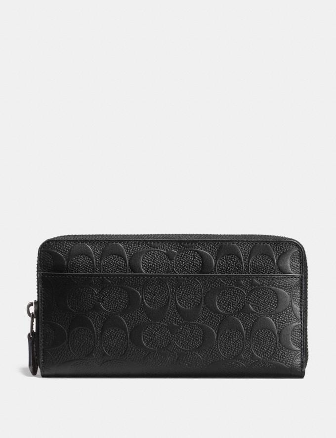 Coach Accordion Wallet in Signature Leather Midnight Men Wallets