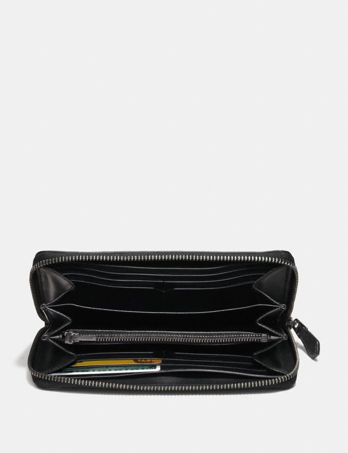 Coach Accordion Wallet in Signature Leather Midnight Men Wallets Alternate View 1