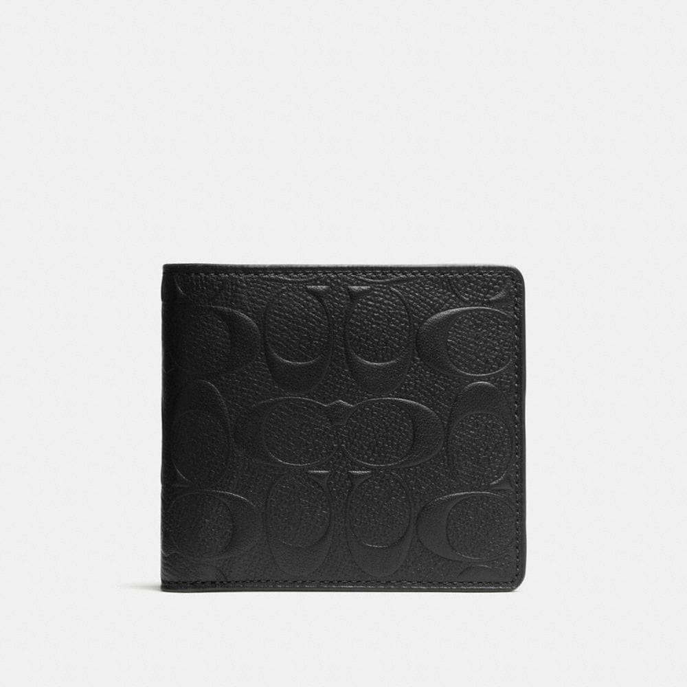 Coin Wallet in Signature Crossgrain Leather