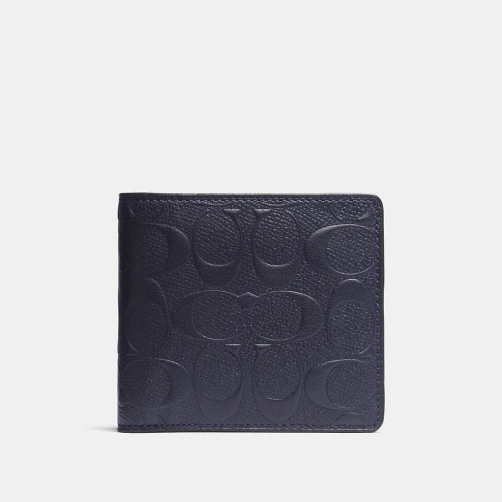 Coach Coin Wallet in Signature Crossgrain Leather