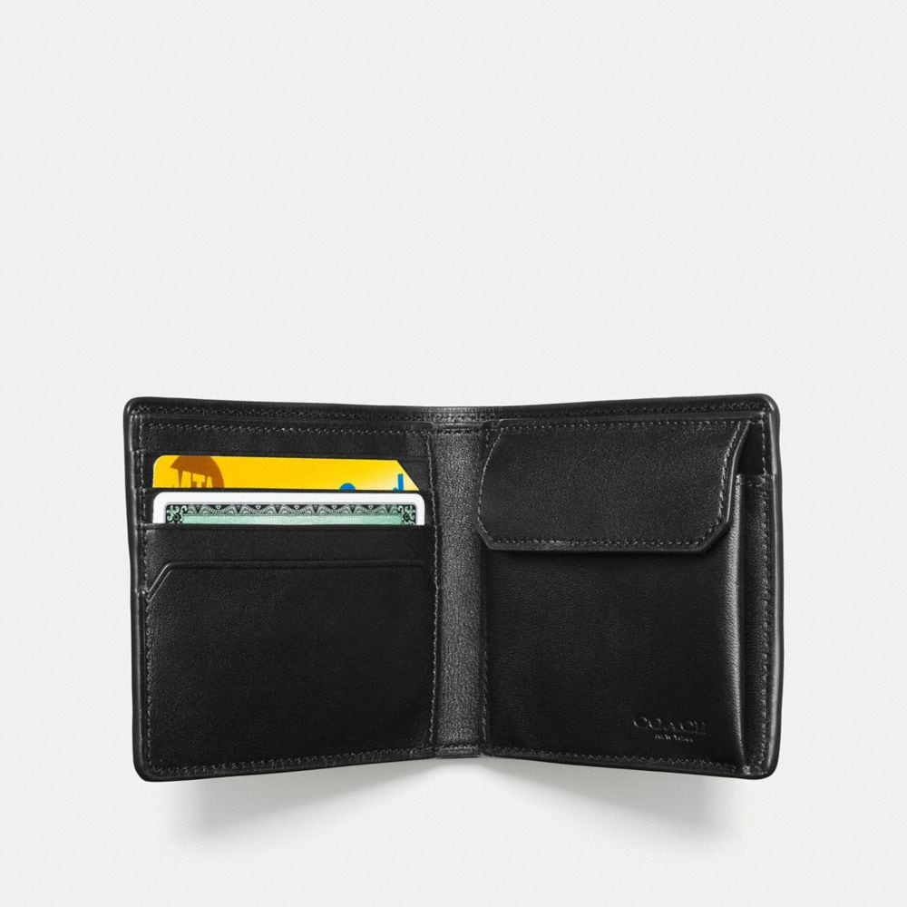 Coach Coin Wallet in Signature Crossgrain Leather Alternate View 1