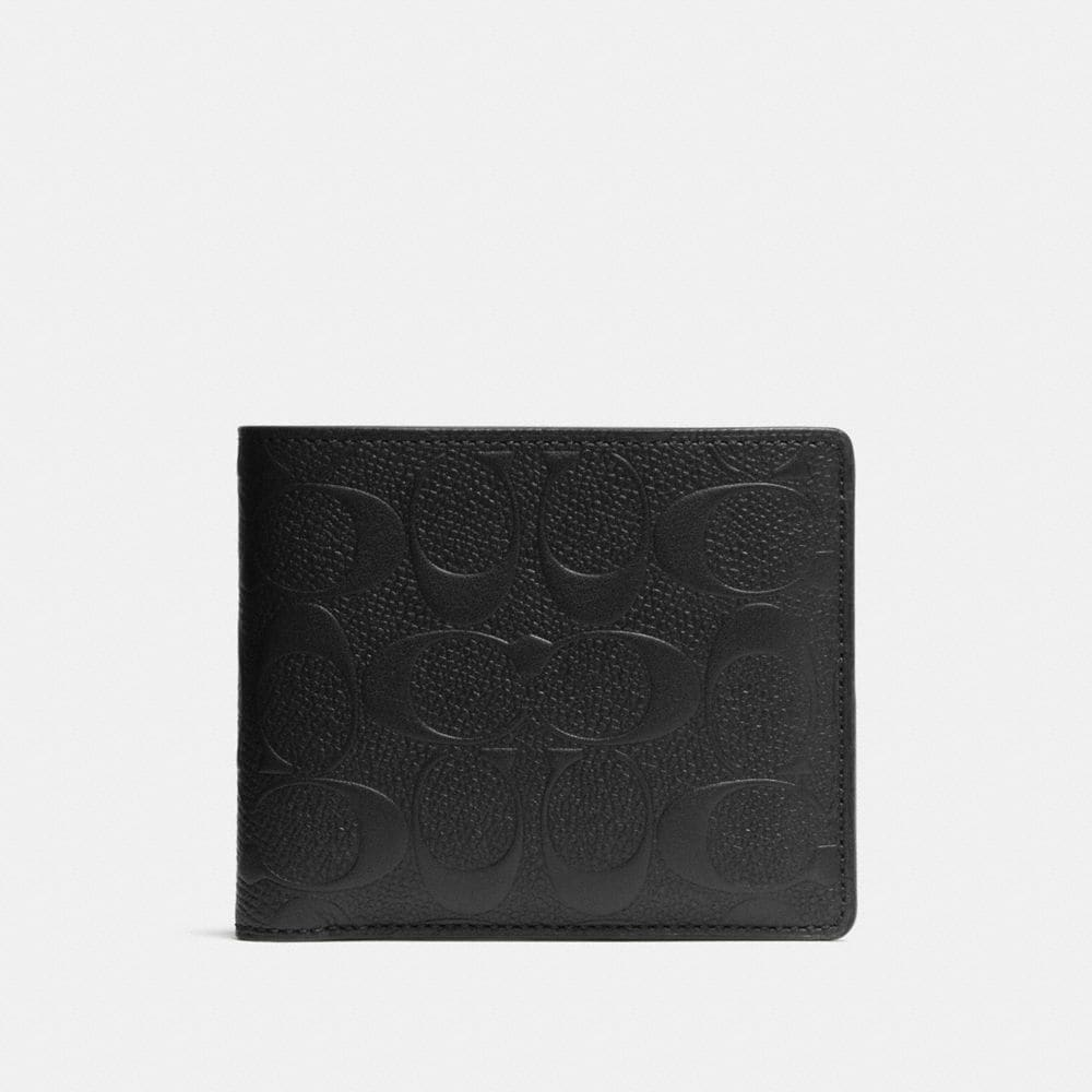 Coach Compact Id Wallet in Signature Leather