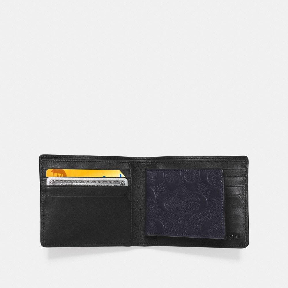 Coach Compact Id Wallet in Signature Leather Alternate View 1