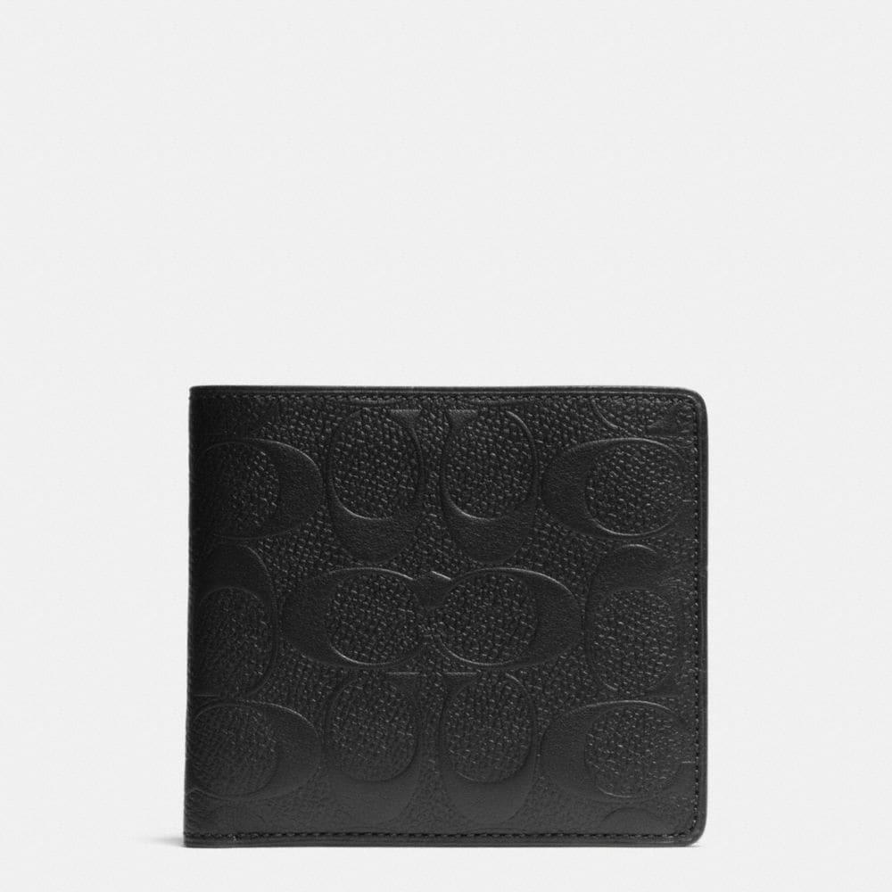 Coach Double Billfold Wallet in Signature Crossgrain Leather