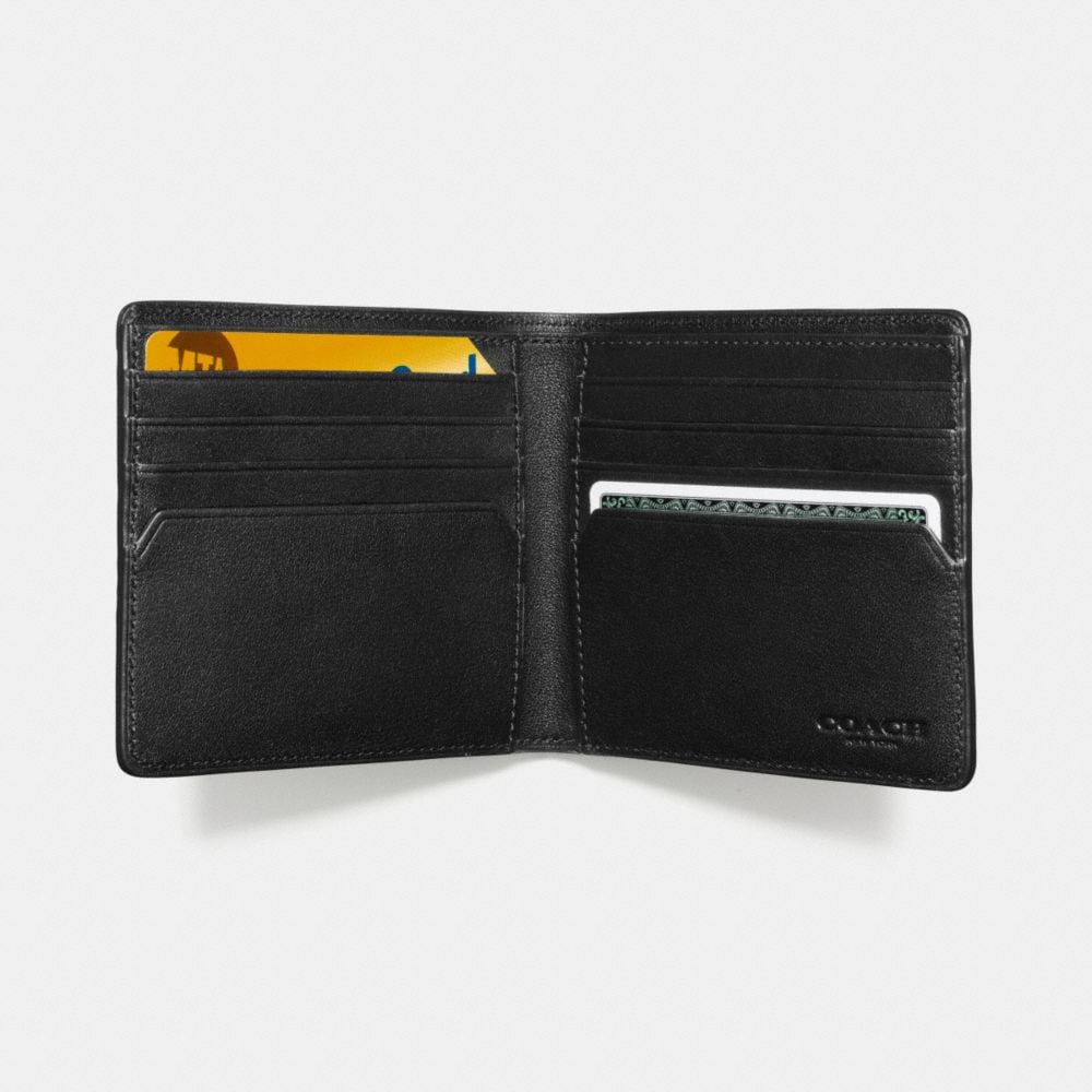 DOUBLE BILLFOLD WALLET IN SIGNATURE CROSSGRAIN LEATHER - Alternate View L1