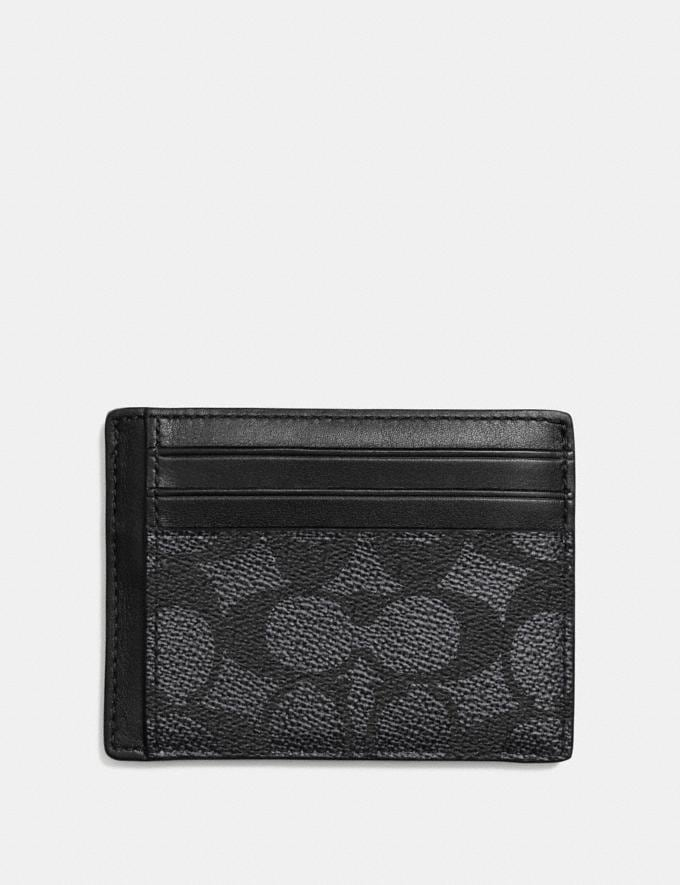 Coach Id Card Case Charcoal Men Wallets Card Cases