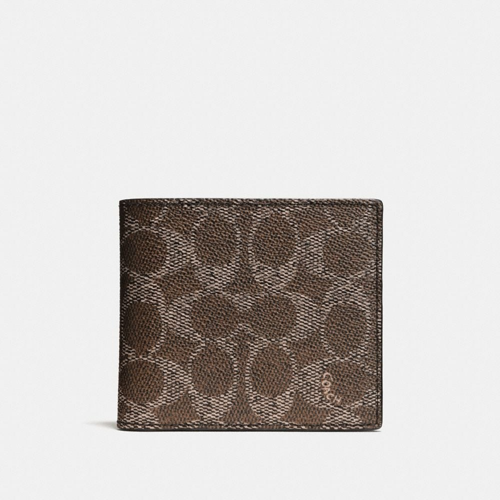 Coach Coin Wallet in Signature Canvas