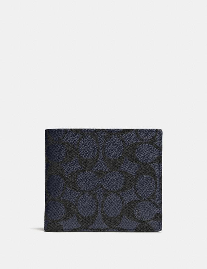 Coach Coin Wallet in Signature Canvas Midnight Men Wallets Coin Cases