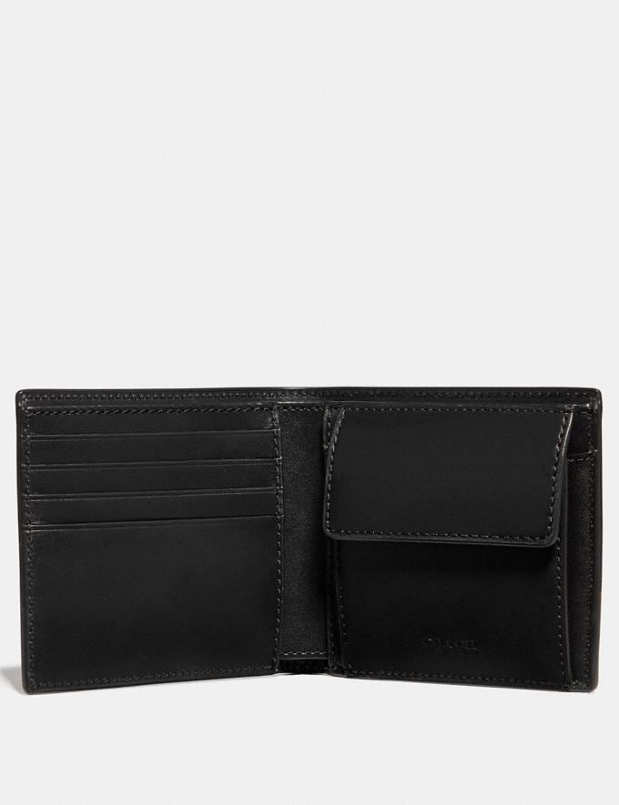 Coach Coin Wallet in Signature Canvas Midnight Men Wallets Coin Cases Alternate View 1