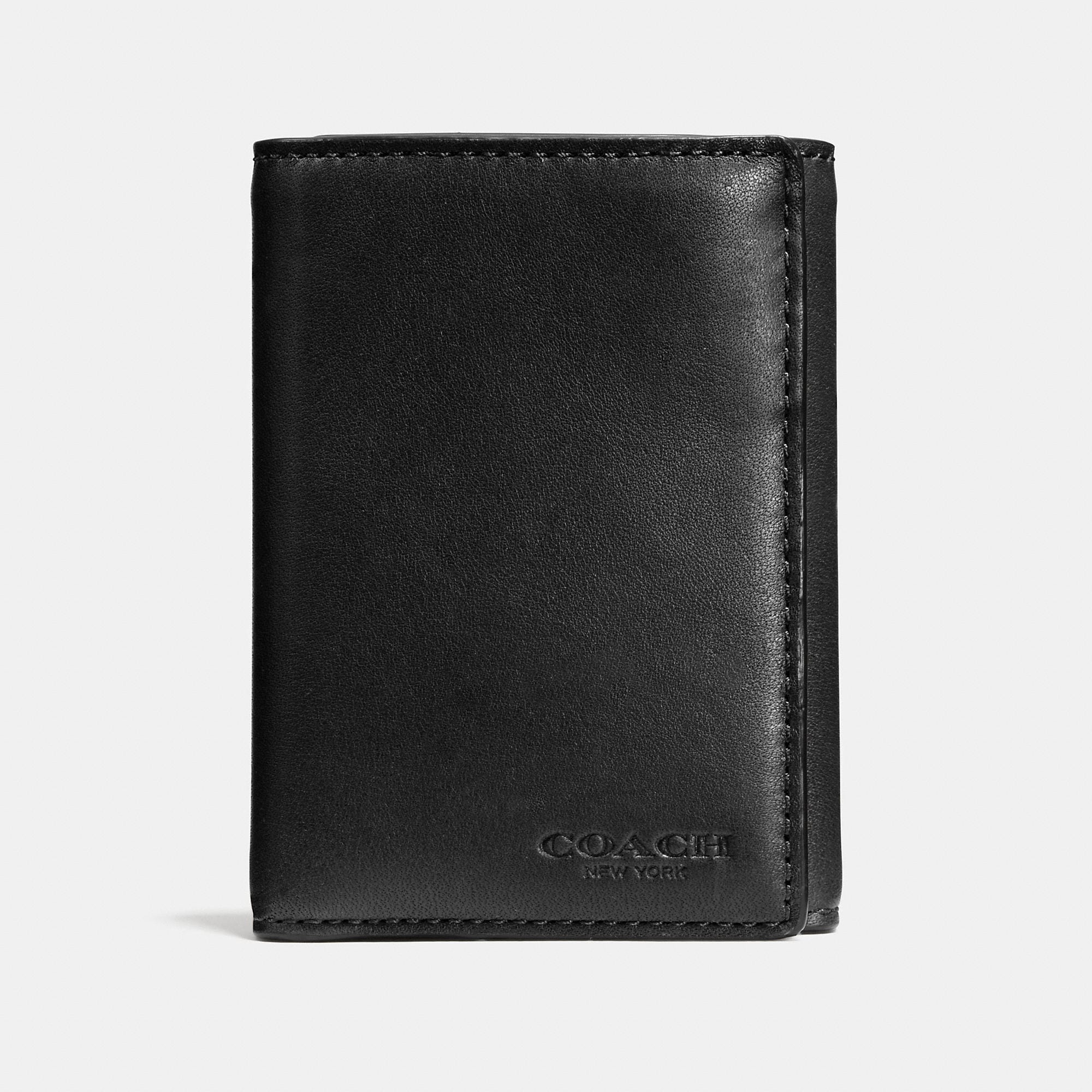 Coach Trifold Wallet In Sport Calf Leather