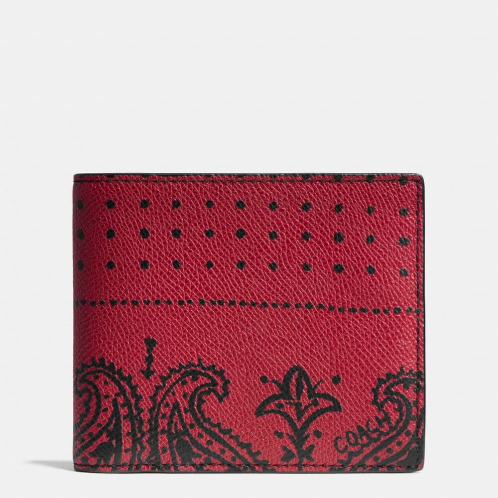 Compact Id Wallet in Printed Crossgrain Leather