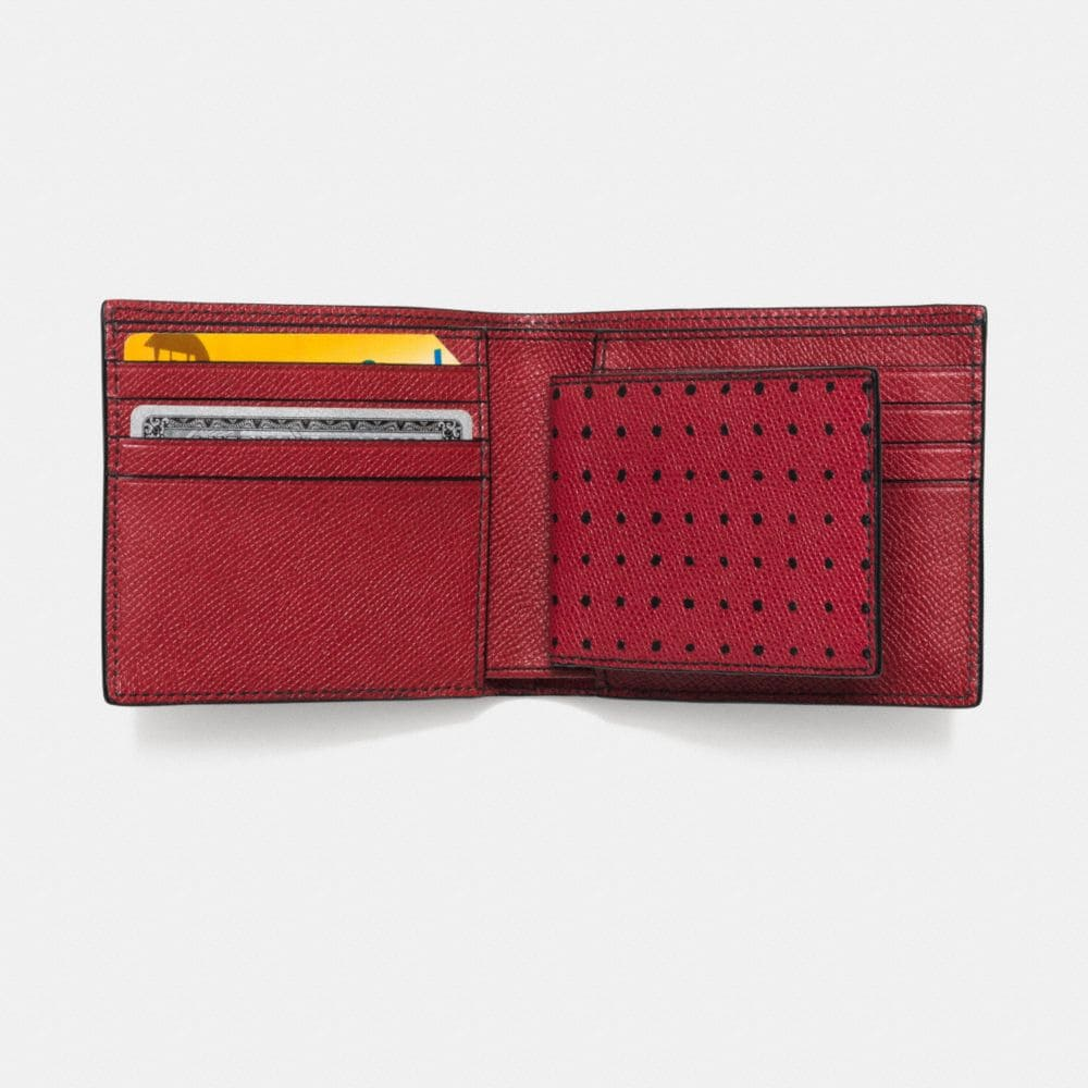 COMPACT ID WALLET IN PRINTED CROSSGRAIN LEATHER - Alternate View L1