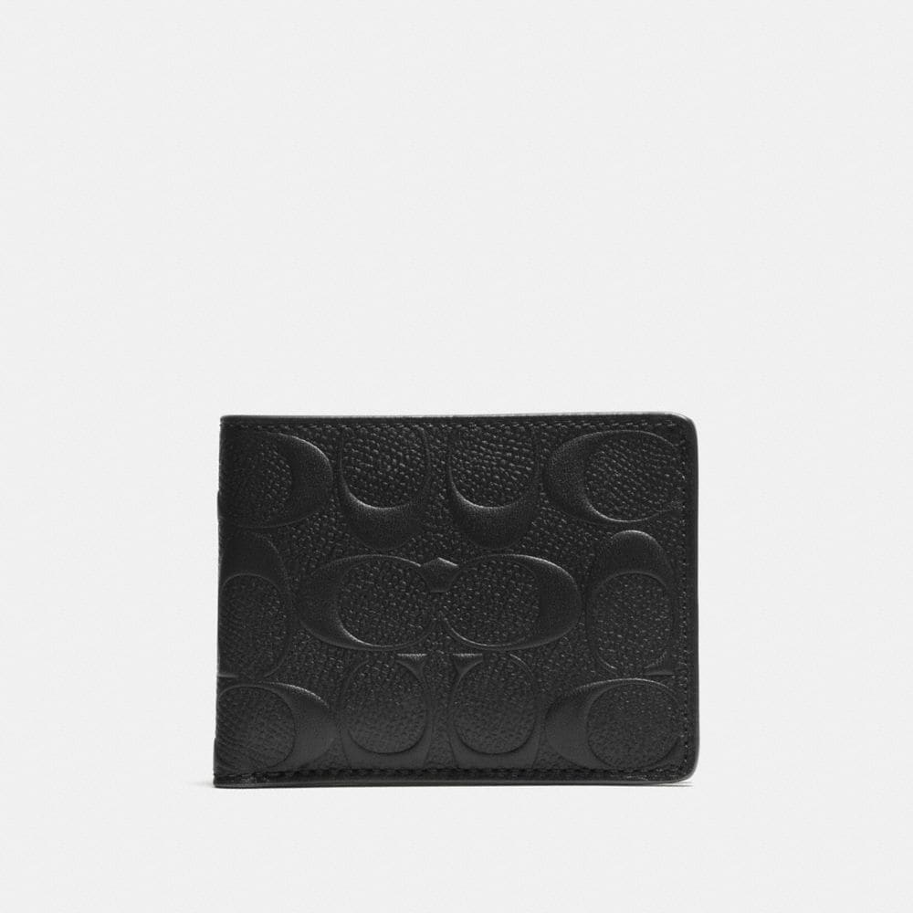 SLIM BILLFOLD WALLET IN SIGNATURE CALF LEATHER