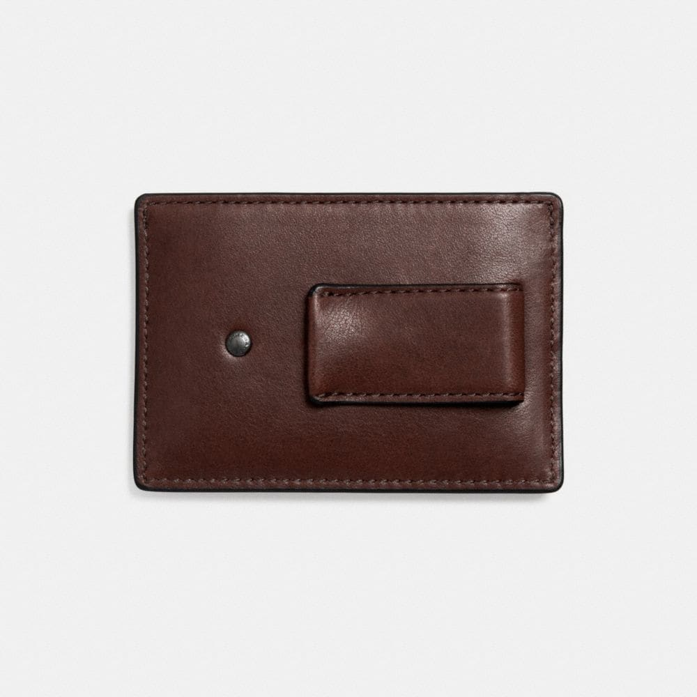 Money Clip Card Case in Sport Calf Leather - Alternate View L1