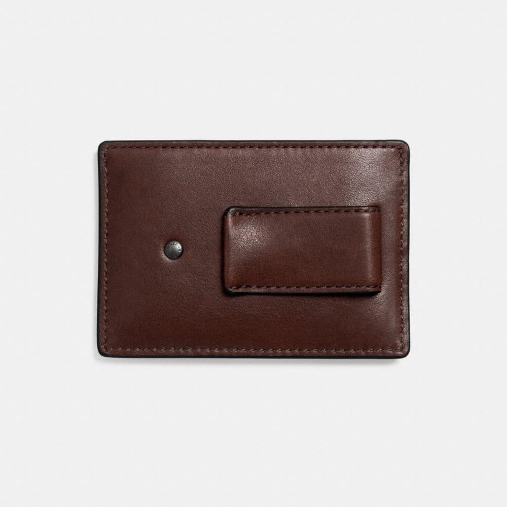 Money Clip Card Case in Sport Calf Leather - Alternate View L1