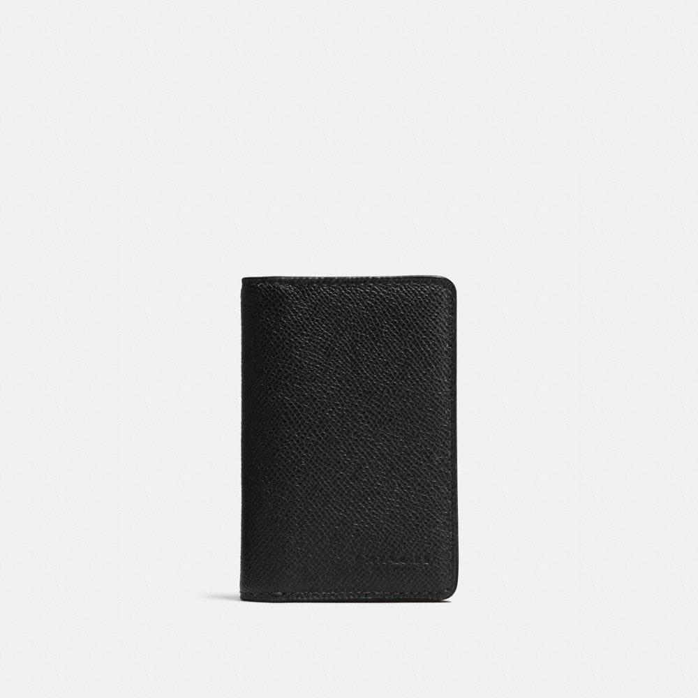 Coach Card Wallet in Crossgrain Leather